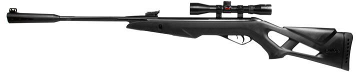 image of a black air gun with a sling