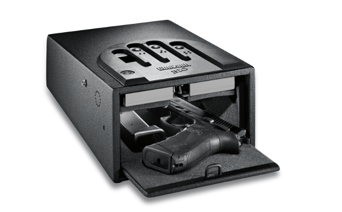 image of the Gunvault GVB1000 Mini Vault Biometric Gun Safe