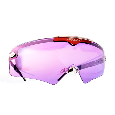 purple shooting glasses