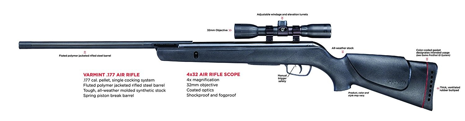 image of the gamo air rifle