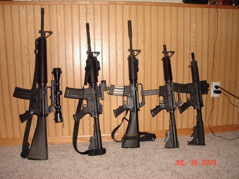 picture showing different barrel lengths
