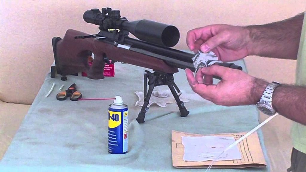 image showing how to clean the airgun