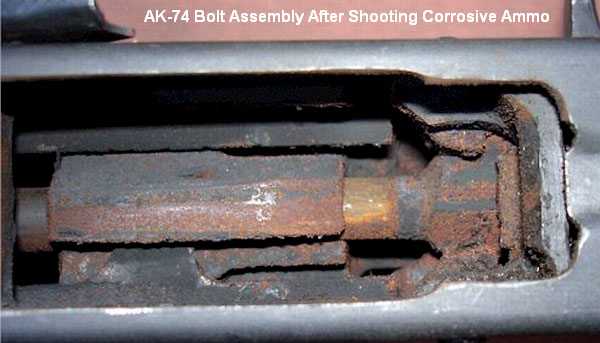 image of corrosive ammo that destroyed an AK47