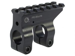 black and silver gas block for the ar 15