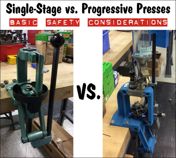image showing the difference between a progressive press and a single press