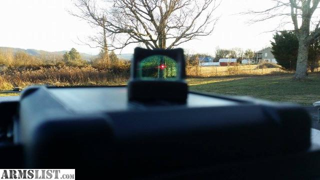 image of a red laser sighting mount