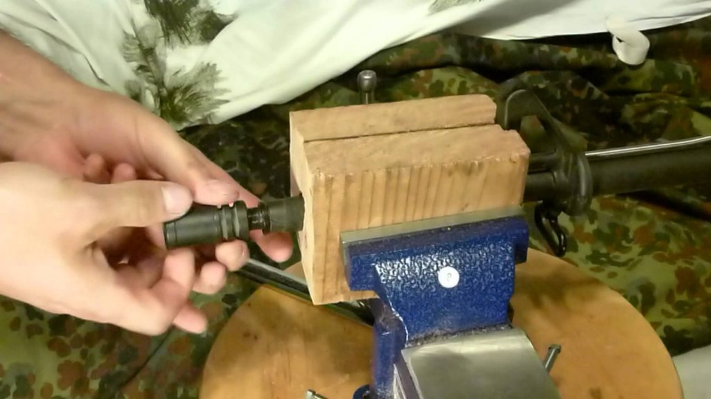 image of Threading a Muzzle Brake