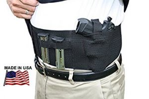 image of Belly Band Gun Holster with Dual Magazine Pouch