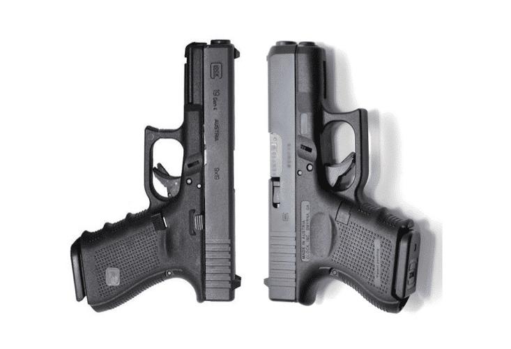 image of glock 19 vs 26