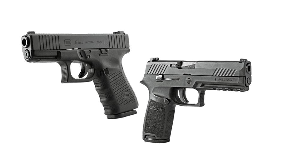 image of glock 19 vs Sig Sauer P320