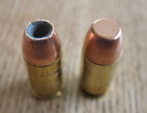 picture of a hollow point and a full metal jacket