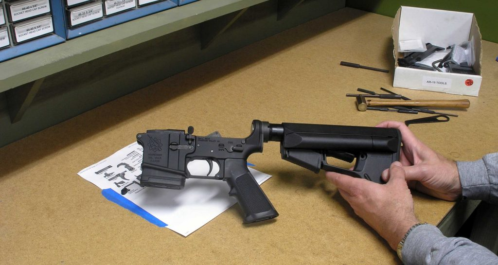 image of building customized AR 15