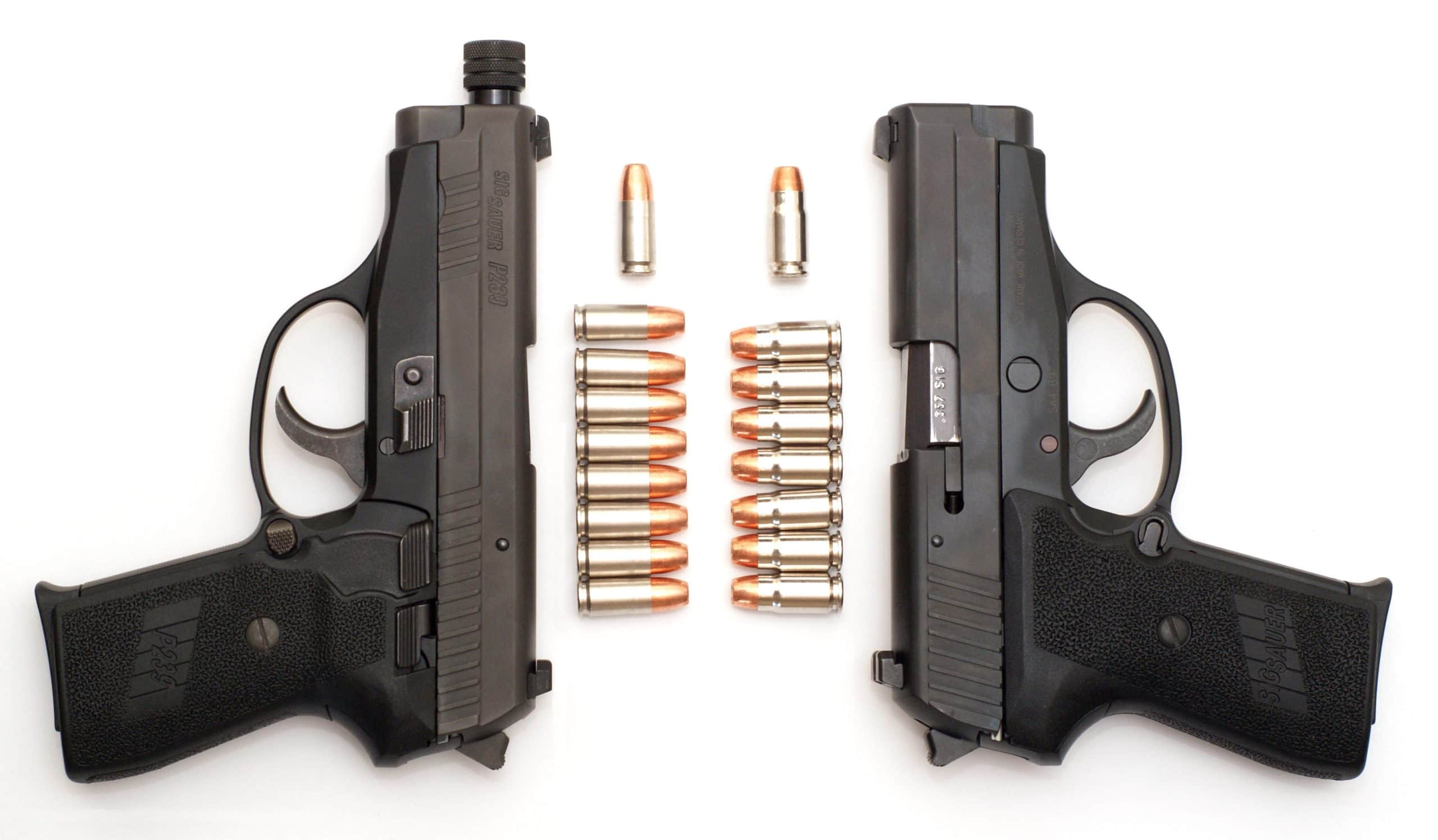 a picture of two sig p239s