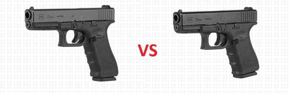 image of glock comparison 22 vs 23