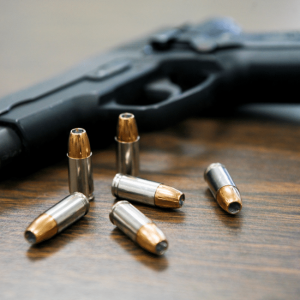 image of a pistols and bullets