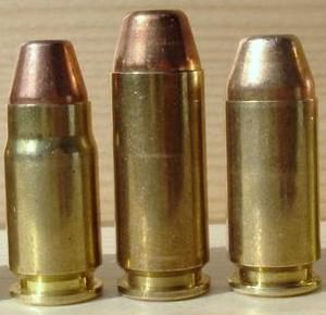 a picture of 357 sig, 10mm and 40 S&W