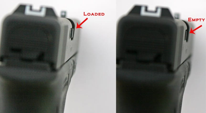 a picture of a gen 3 loaded and unloaded indicator