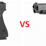 a picture of glock 17 and glock 34 with VS in between