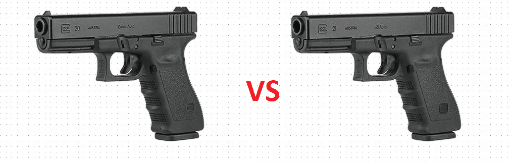 Handgun Showdown Round 4: Glock 20 vs  Glock 21