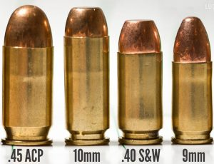a picture of different handgun calibers