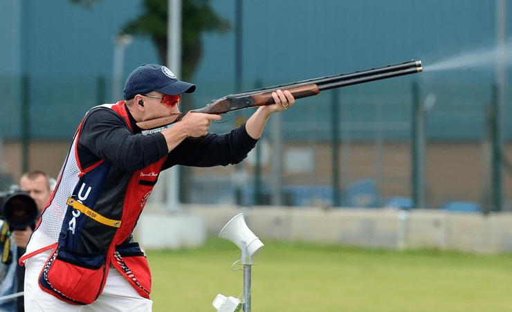 image of a man in a shooting competition