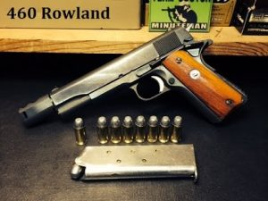 a picture of a 1911 converted to .460 Rowland