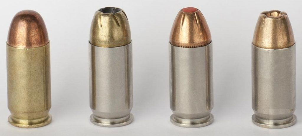 a picture of 45 ACP bullets