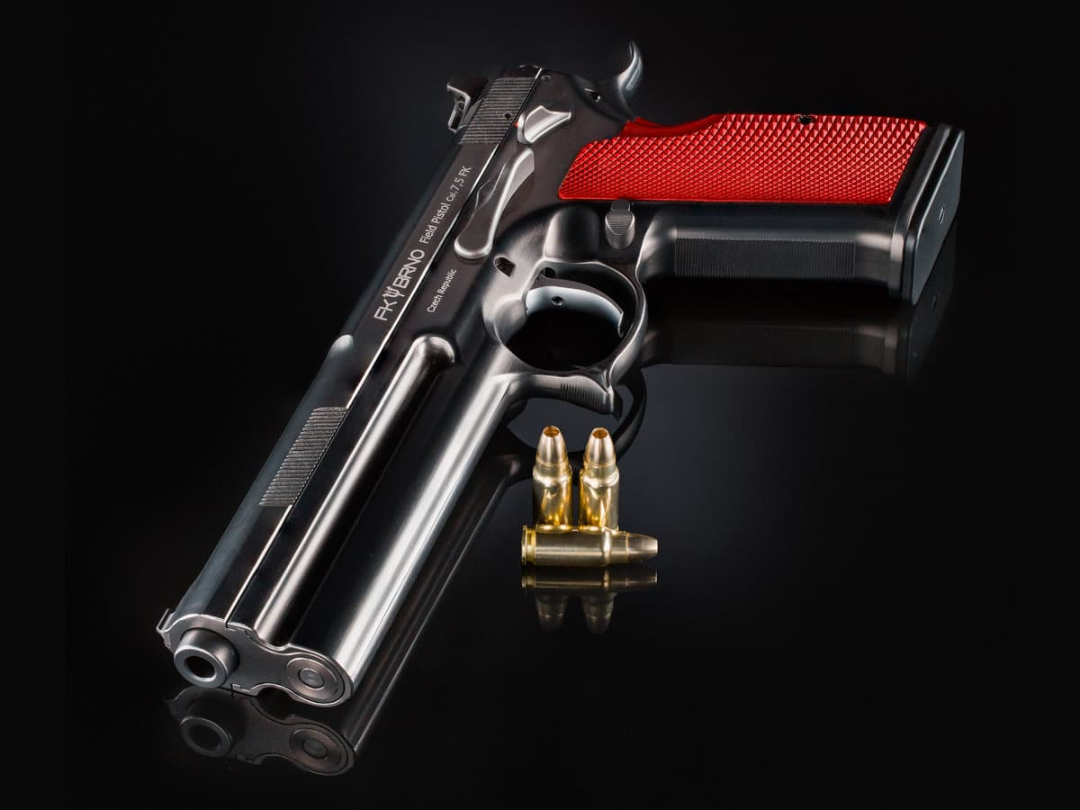 a picture of the FK Field Pistol with bullets