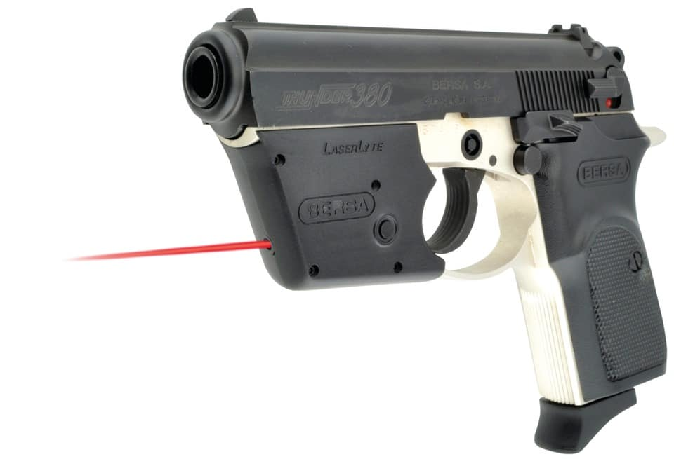 a picture of a bersa thunder 380 with laserlyte installed