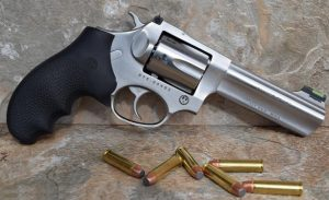 image of a sp101 revolver with ammo
