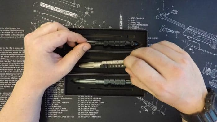 tactical pen with case