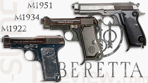 a picture of early Beretta handguns