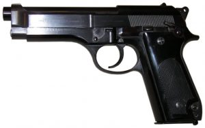 a picture of the first M92 with a step slide