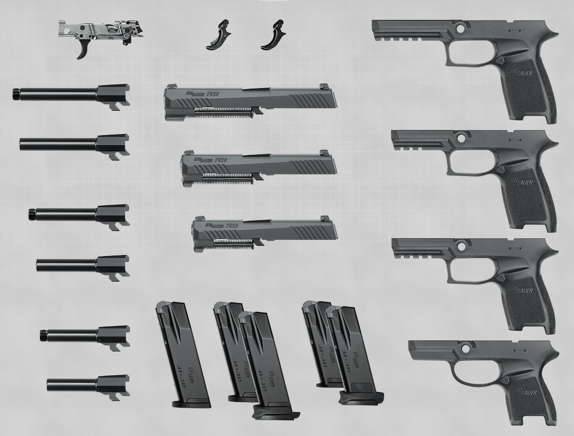 a picture of the SIG P320's Components