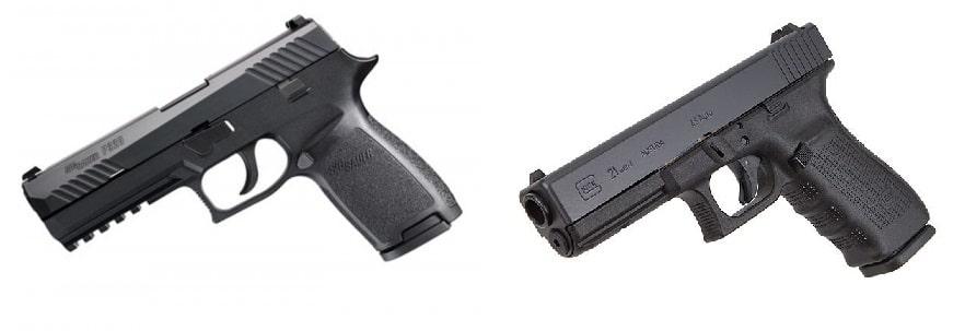 Handgun Showdown Round 8: Sig P320 vs  Glock 21