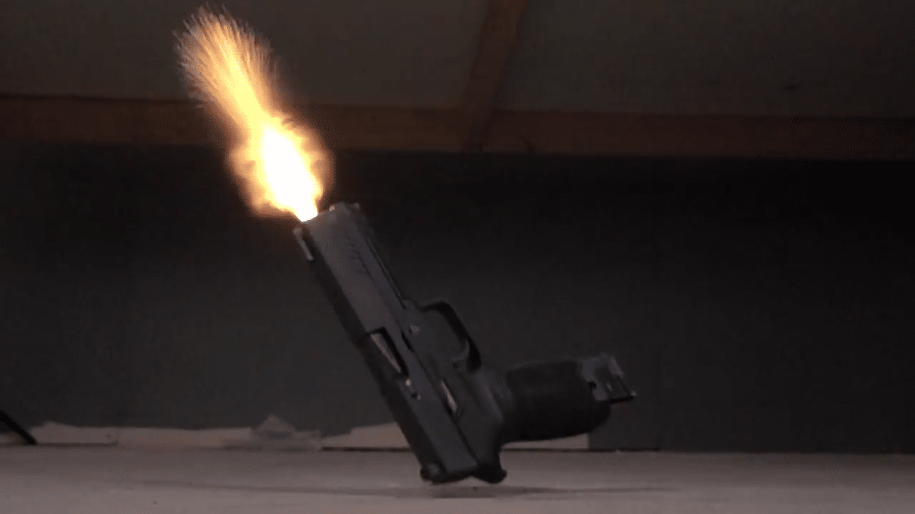a picture of the SIG P320's malfunction