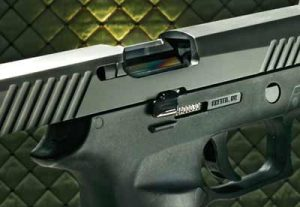a picture of the SIG P320's slide serrations