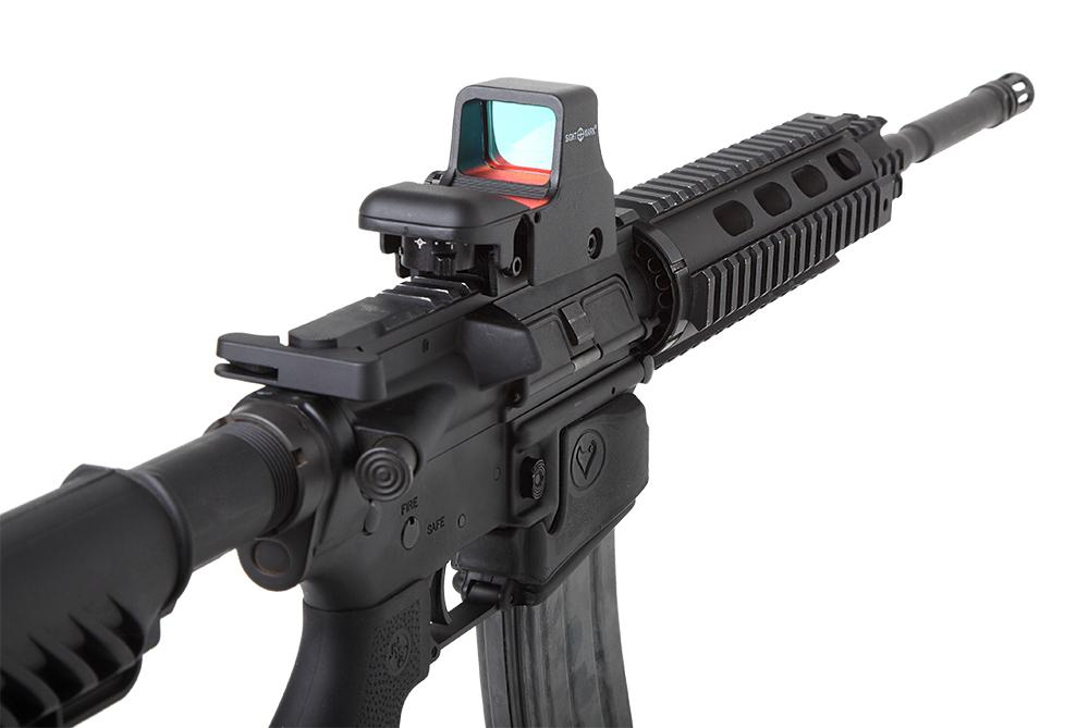 a picture of the Sightmark Ultra Shot mounted on an AR platform