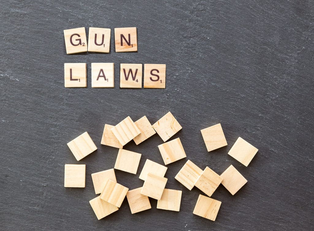 gun laws word in scrabble