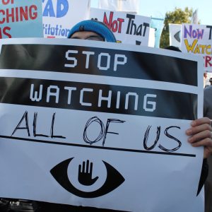 people protesting for privacy