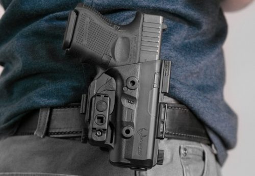 a picture of a holstered Glock 26 Gen4