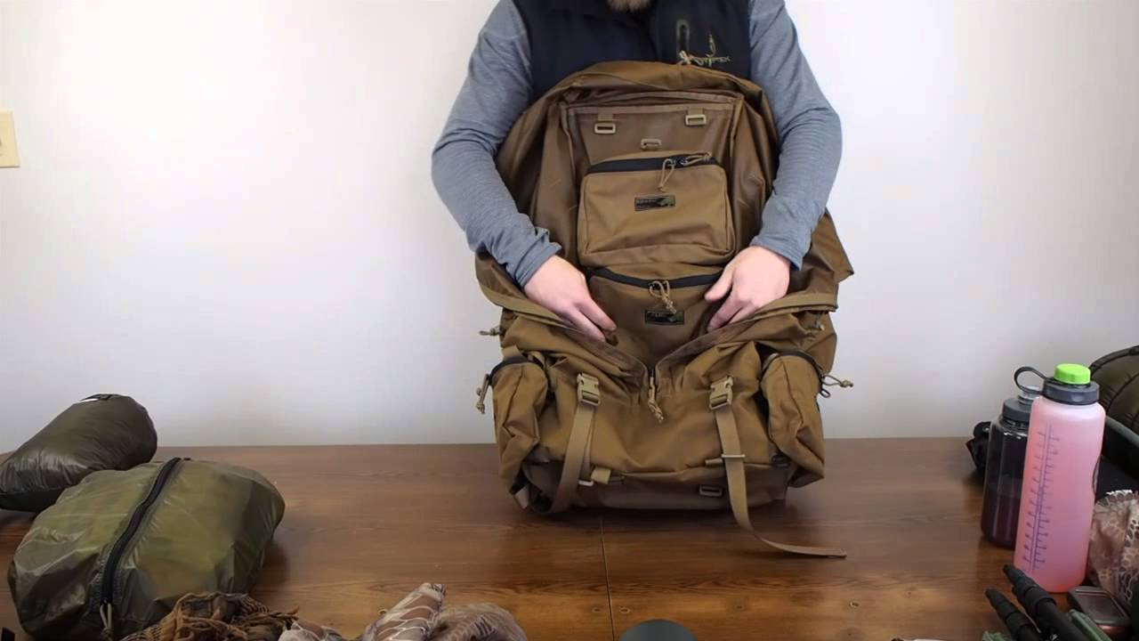 image of checking a backpack