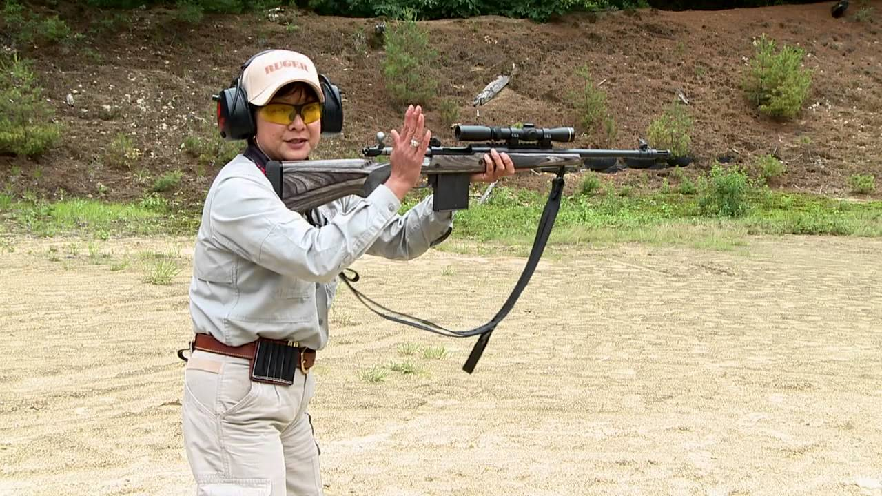 using a ruger gunsite scout rifle in a drill
