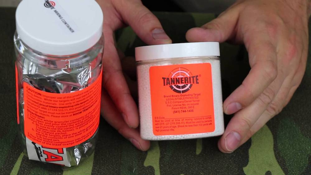 tannerite exploding binary target