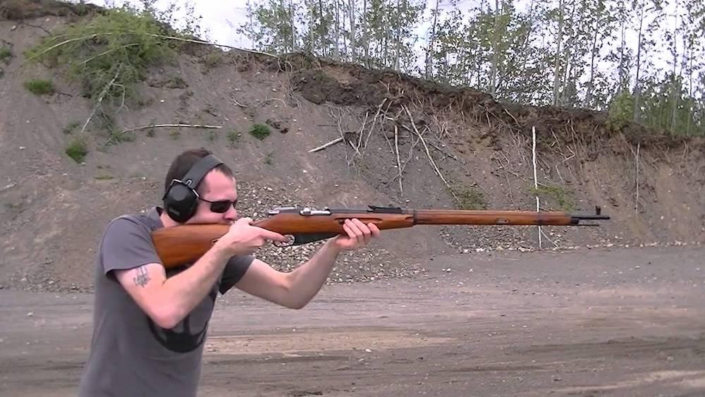 image of a man aiming his Mosin Nagant M91-30