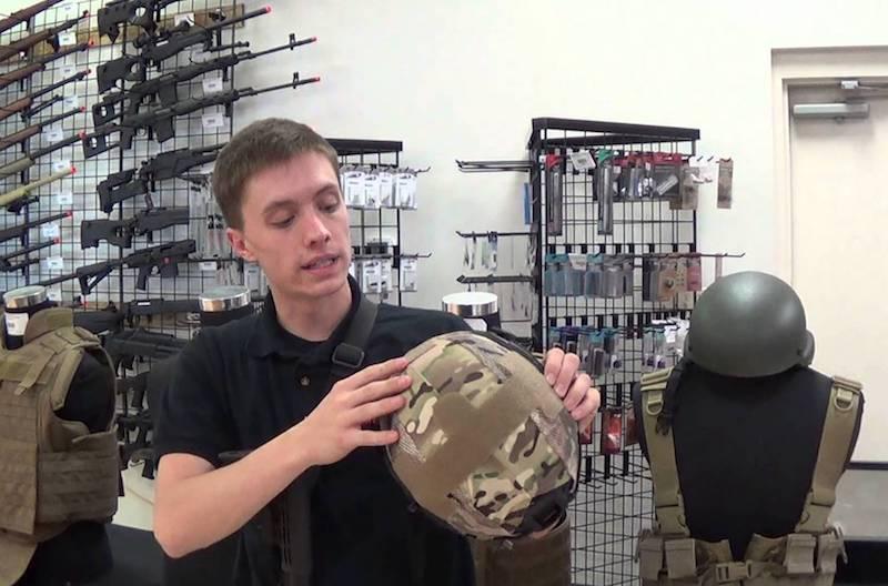 using a tactical helmet