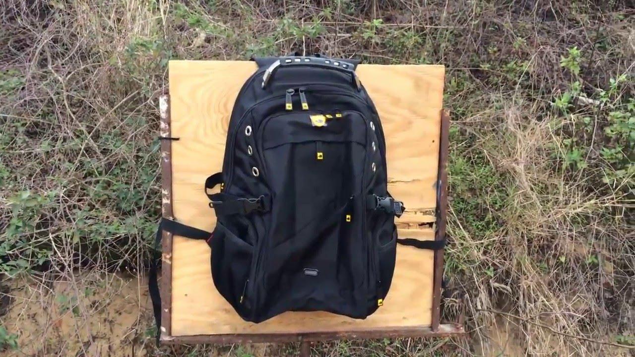 Bulletproof Backpack ballistic test