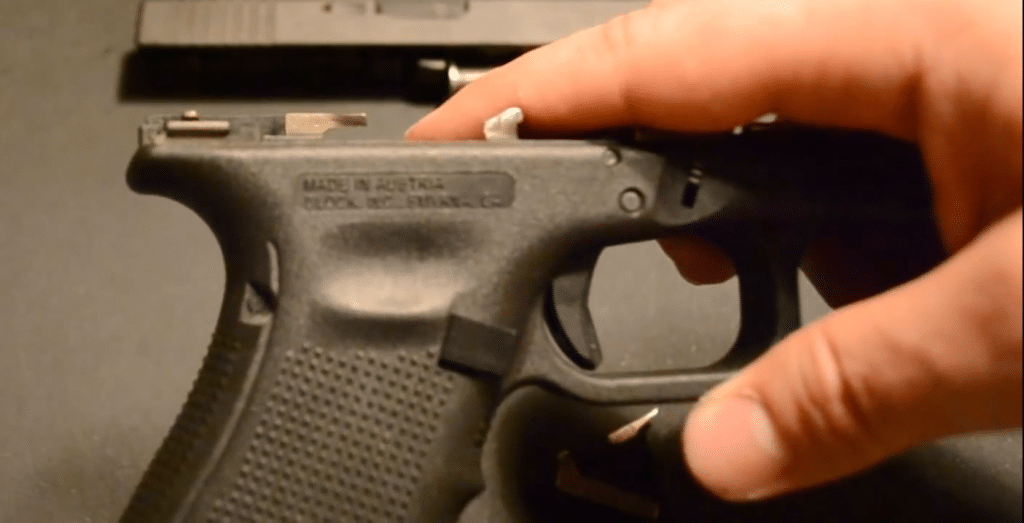 a picture of the Gen 4 Trigger Bar bulge filed smooth