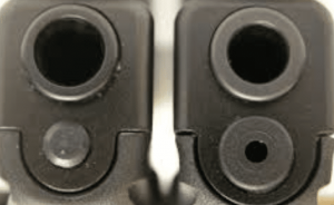 a picture of the Gen 4 and Gen 3 guide rod plug