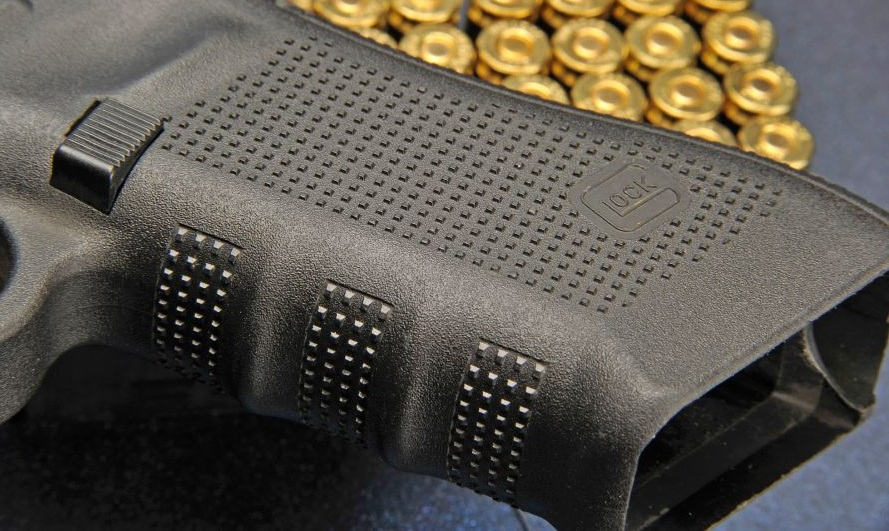 a picture of the Glock Gen 4 grip texture